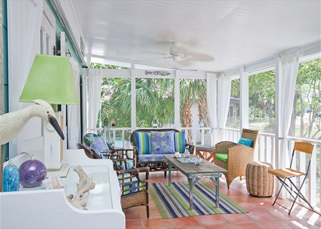 Screened Porch on Tybee Island