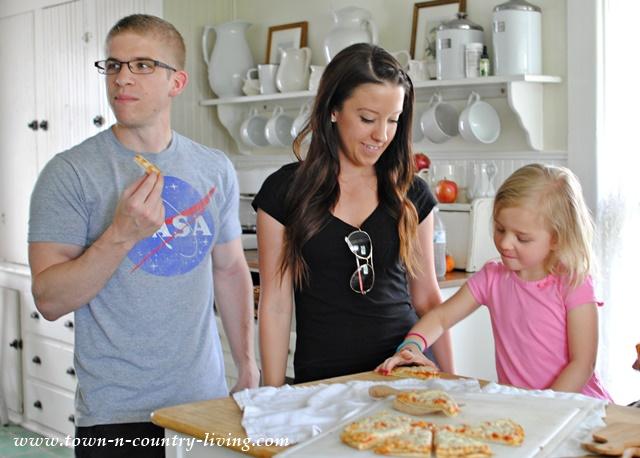Enjoying Family Time with Tony's Pizza