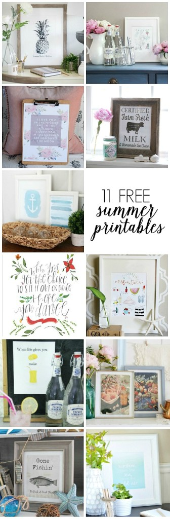 11 Free Summer Printables
