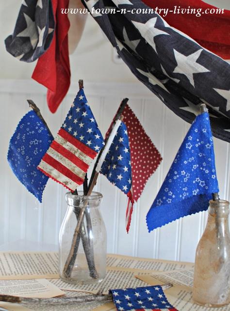 DIY Mini Flags. See the full tutorial