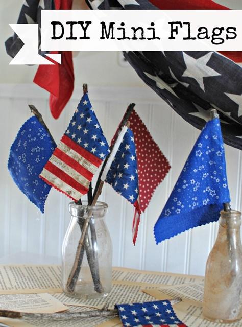 DIY Mini Flags. See the tutorial!