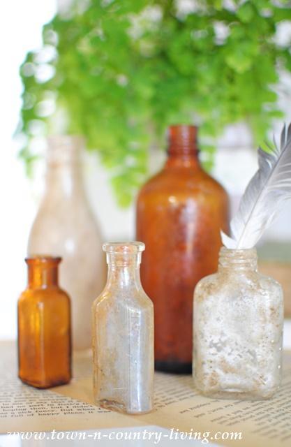 Dirty little bottles from the flea market