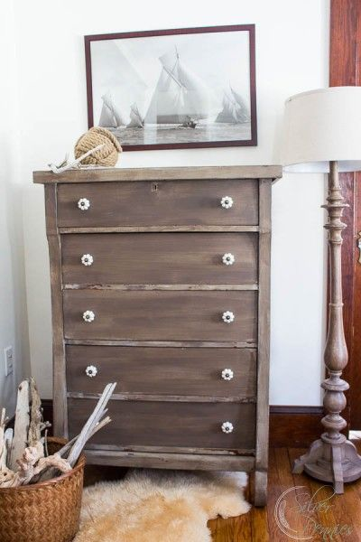 Driftwood Inspired Dresser by Finding Silver Pennies