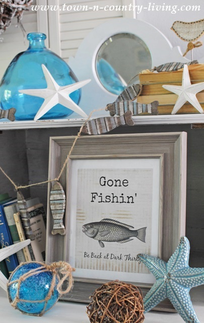Free Summer Printable - Gone Fishin