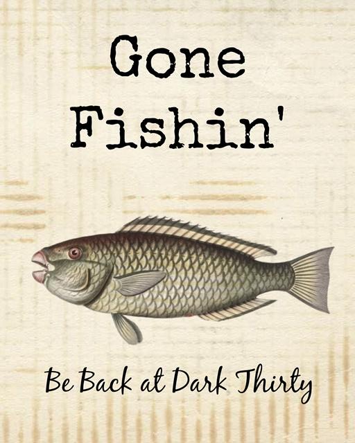 Gone Fishin' Summer Printable