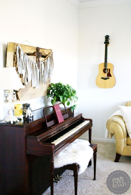 Music Corner in a Farmhouse