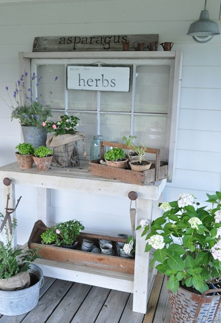Herb Potting Bench
