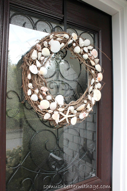 Summer Seashell Wreath by So Much Better with Age