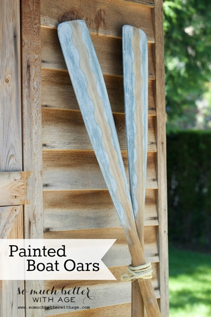 DIY Painted Boat Oars by So Much Better with Age
