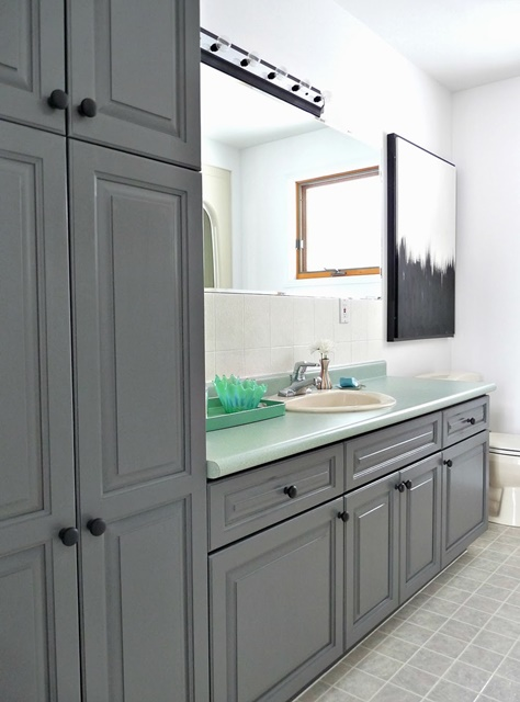 Bathroom with Painted Cabinets