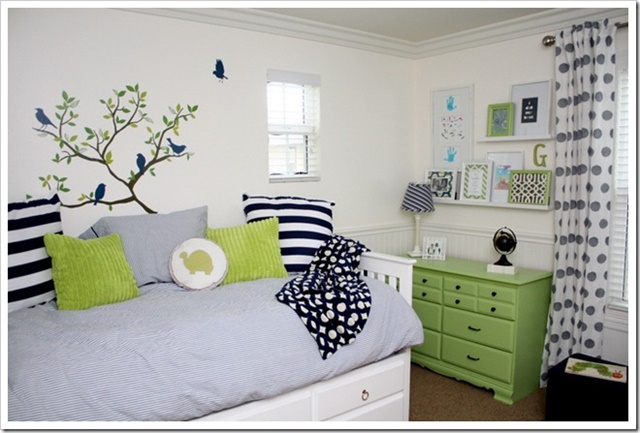 Blue and Green Boy's Bedroom