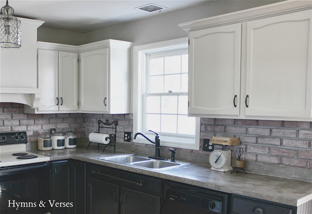 Kitchen Makeover with Painted Cabinets