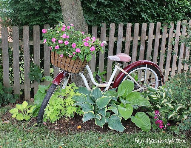 Garden Art - A Vintage Bicycle in a Shade Garden