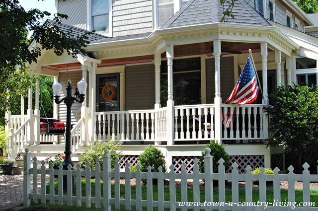 Victorian Porch in Wheaton, Illinois