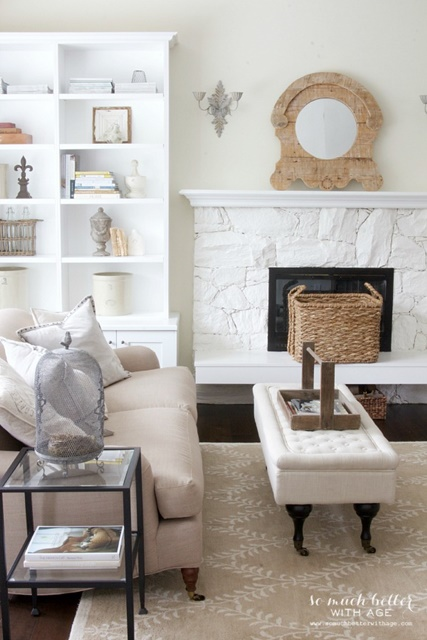 French Country Style Living Room at So Much Better with Age