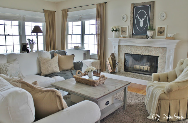 Neutral Style Living Room at City Farmhouse