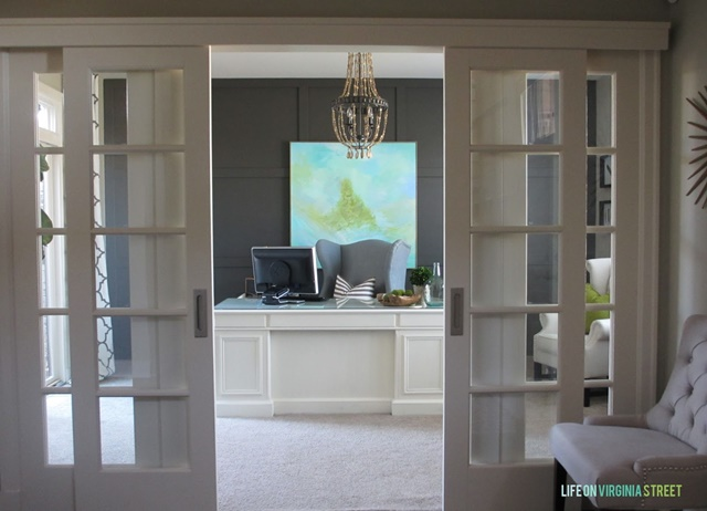 Beautiful Home Office. See the rest of this charming home tour!