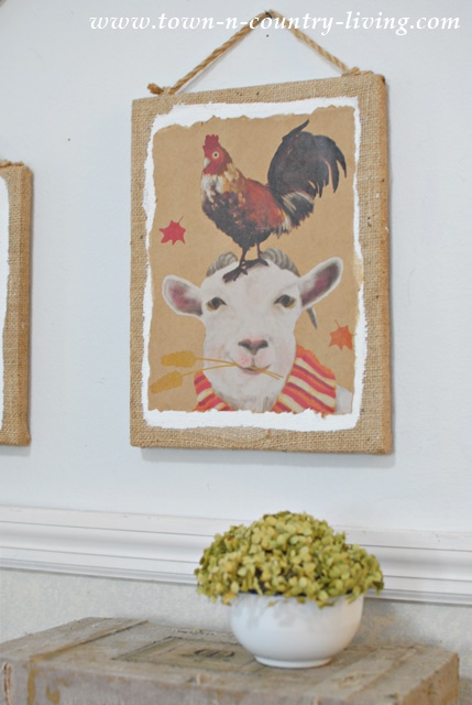 Farm Animal Wall Art from Paper Bags