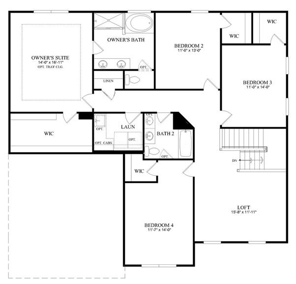 Riverton Model - Second Floor