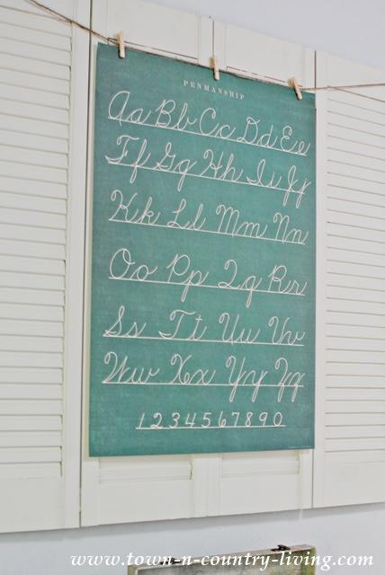 Vintage Penmanship Poster