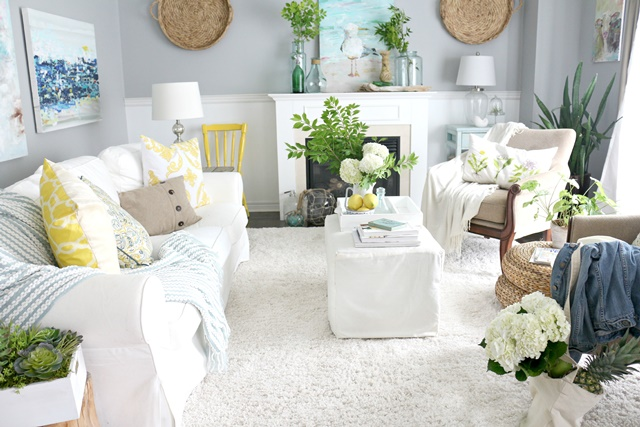White Living Room at Craftberry Bush