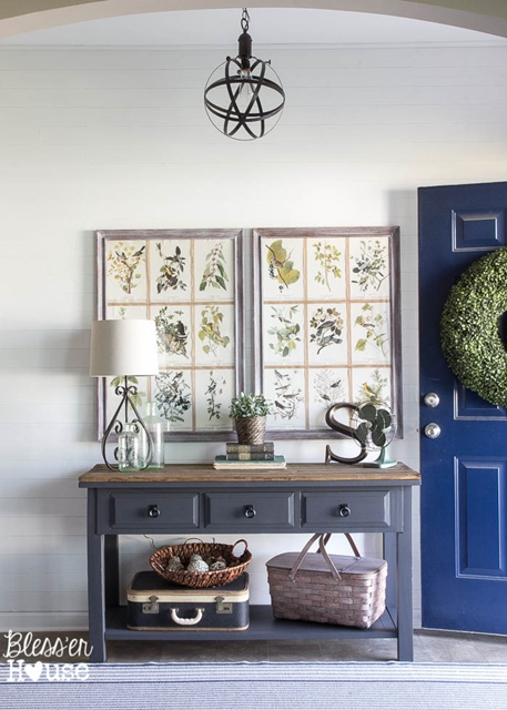 Entryway with Shiplap Walls