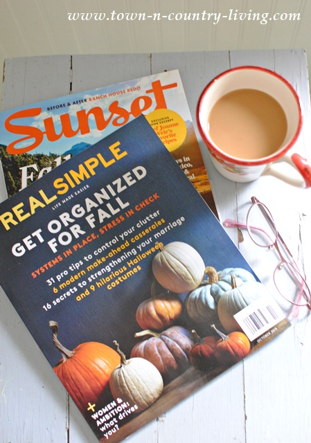 Fall Inspiration and a Little Me Time with Favorite Magazines