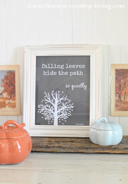 Fall Vignette with Free Printable