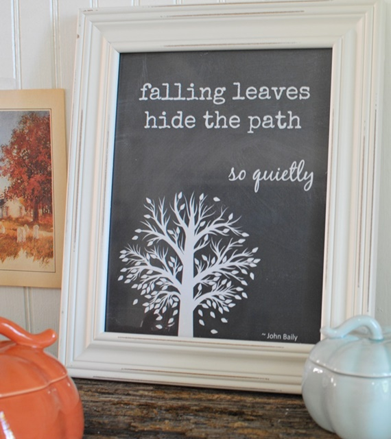 Free Fall Printable of Falling Leaves Quote