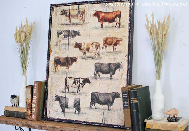 Farmhouse Style Fall Mantel