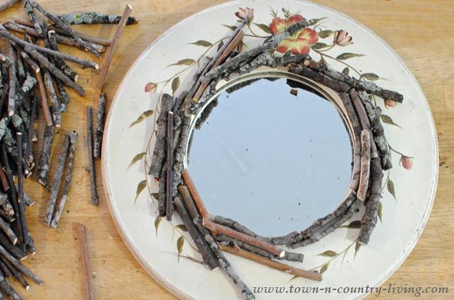 DIY Twig Mirror