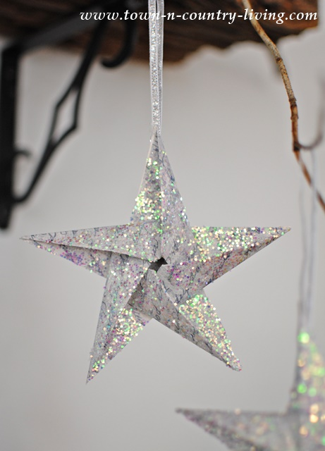 Glitter Star DIY Ornaments