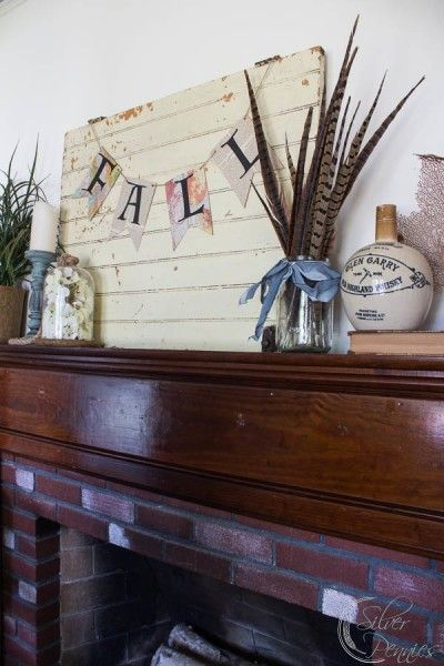 Fall Mantel by Finding Silver Pennies