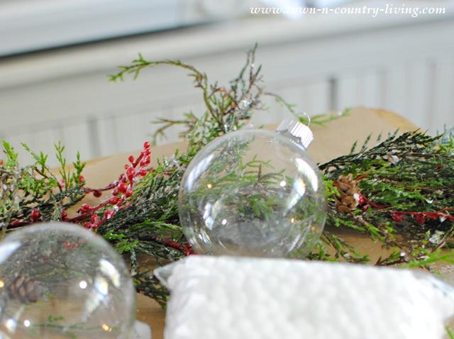 Supplies for DIY Glass Ball Christmas Ornaments