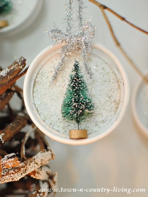 Christmas Ornaments Made from Coasters