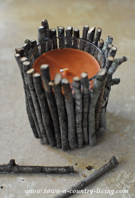 How to Make Rustic Twig Candles