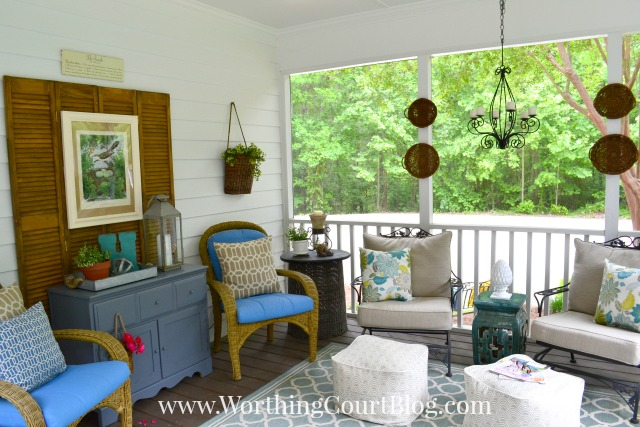 Southern Home Screened Porch