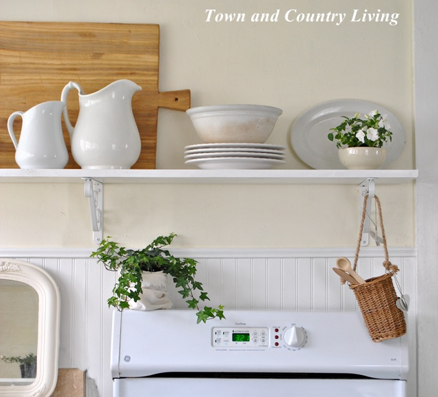 White Ironstone in the Kitchen