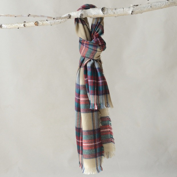 Plaid Scarf for Chilly Days