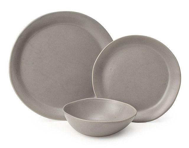Gray Stoneware Dishes