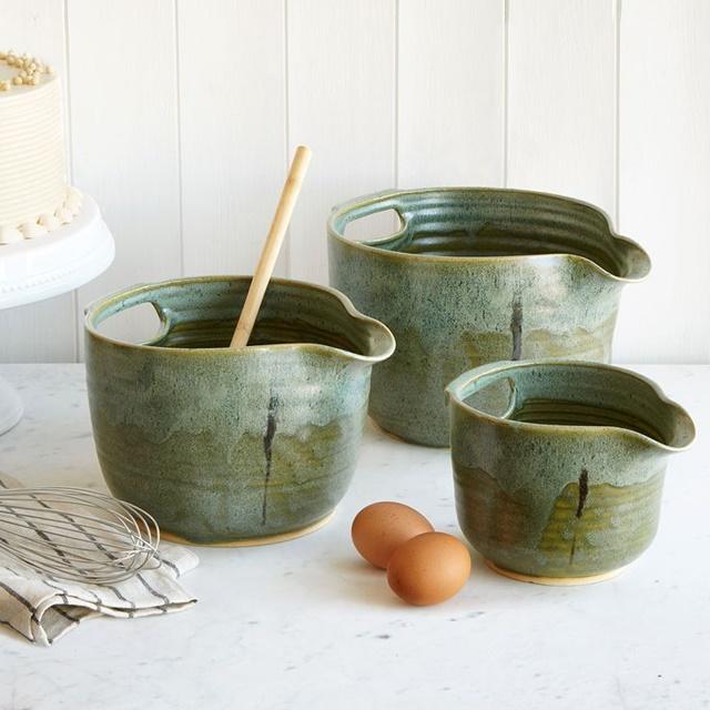 Nesting Stoneware Mixing Bowls