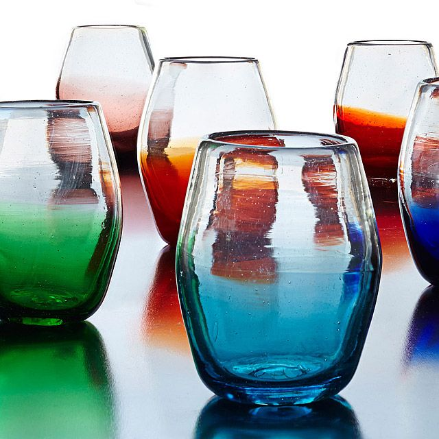 Ombre Stemless Glasses
