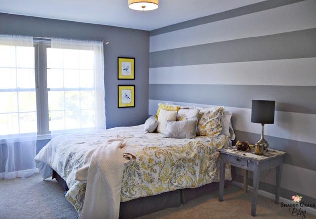 Striped Bedroom Walls